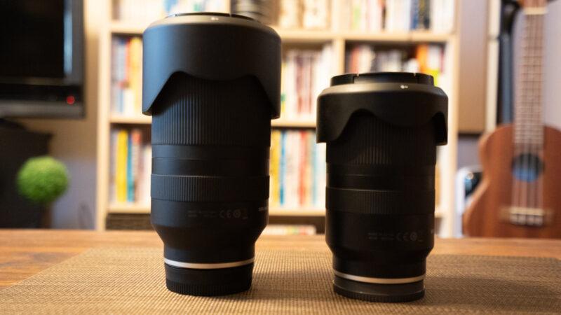 TAMRON 70-180mm F/2.8と28-75mm F/2.8