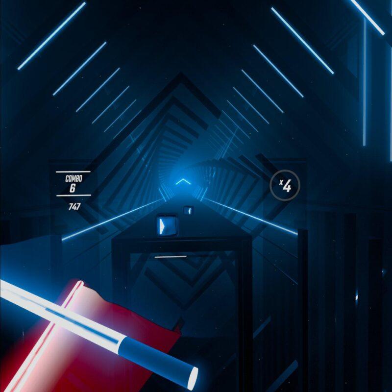 BeatSaberのゲーム画面