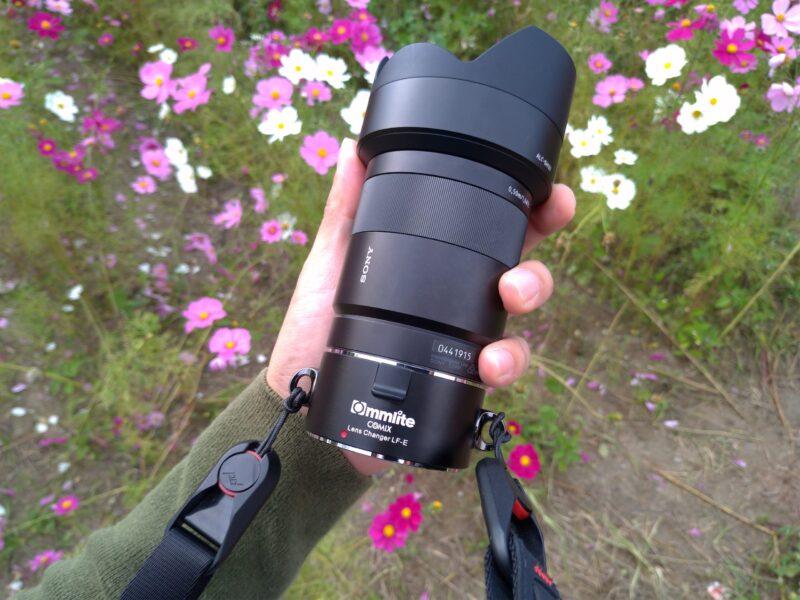 Commlite レンズホルダーをもってぶらり撮影