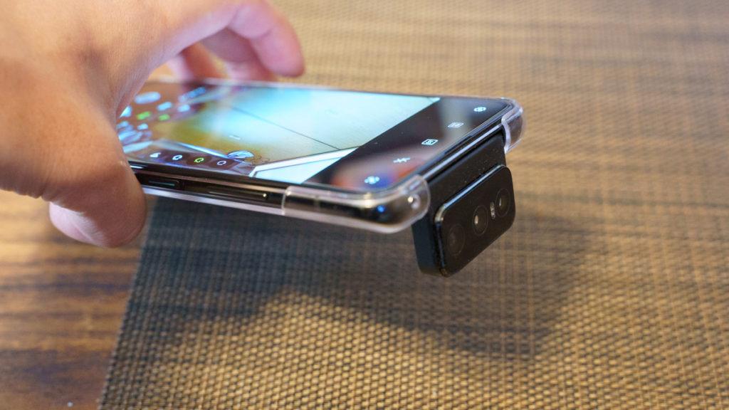 Zenfone7 pro フリップ角度