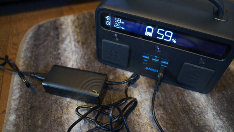 Anker PowerHouse II 400 の充電