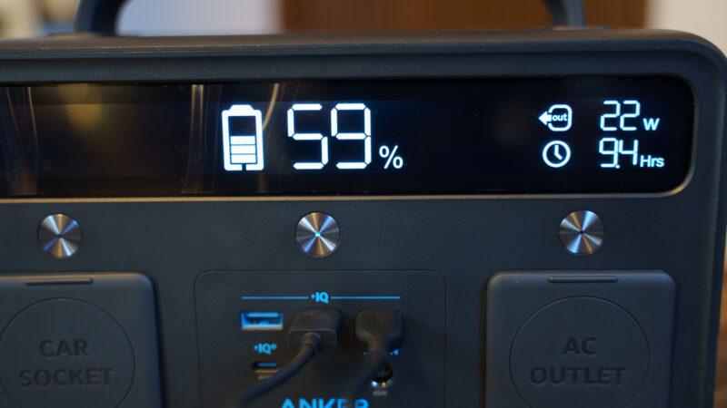 Anker PowerHouse II 400 大型LEDモニター