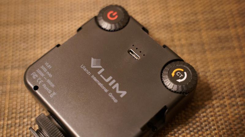 Ulanzi VL-81 LEDビデオライト 光量調整のダイヤル