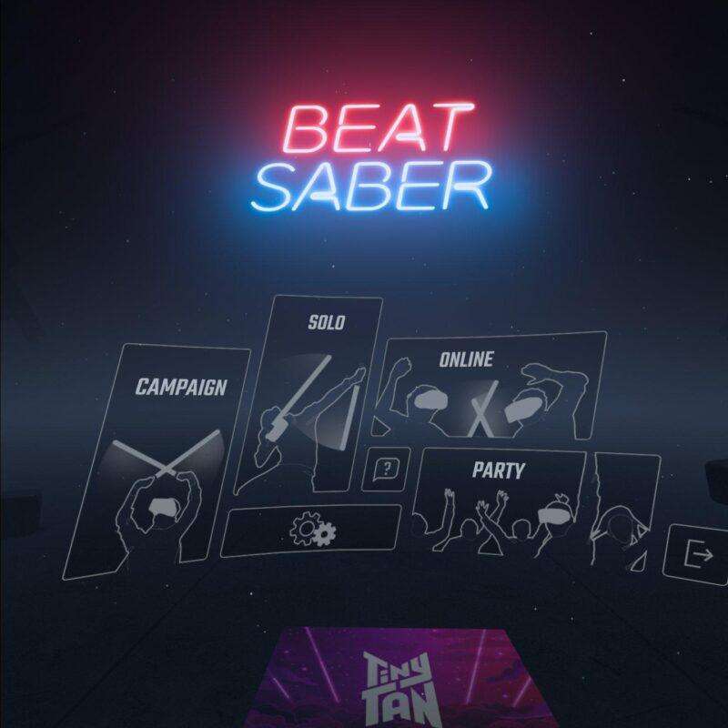 Beat Saber プレイ画面