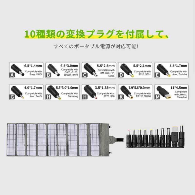 Hypowell ソーラーパネル120W付属品ケーブル