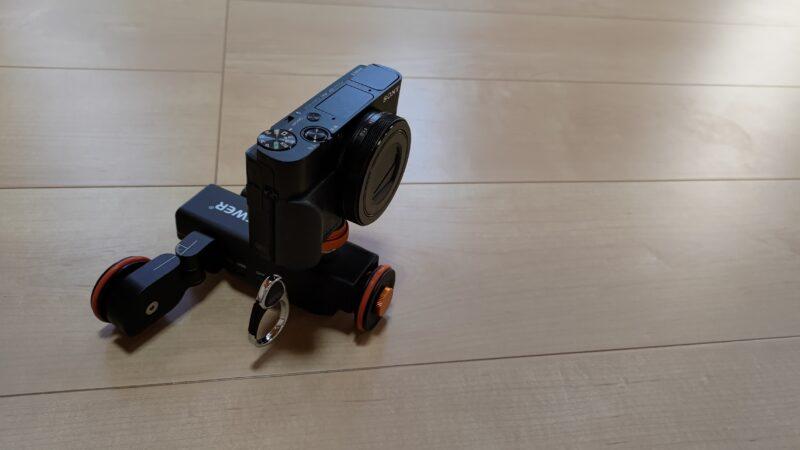 Neewer 3輪電動ドリー コンデジ装着