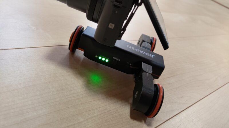 Neewer 3輪電動ドリー 電力インジケーター