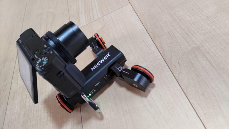 Neewer 3輪電動ドリー 曲線にも移動可能