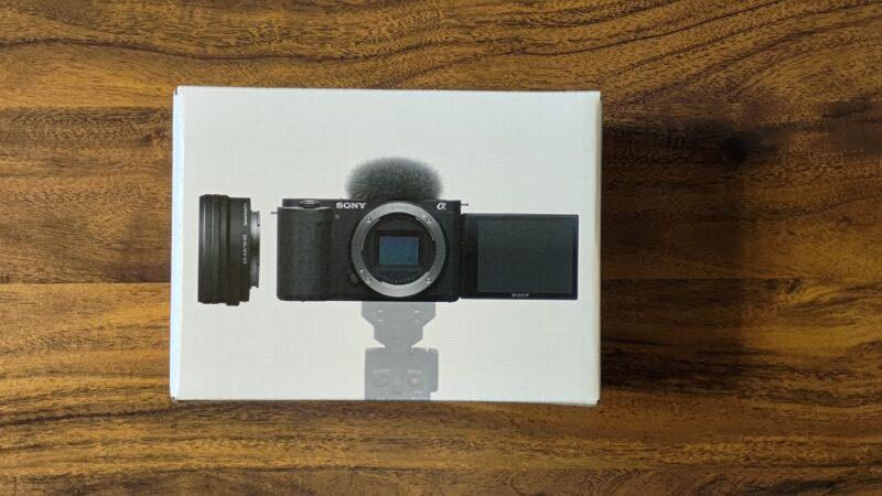動画撮影向きミラーレス一眼レフ ZV-E10 外箱